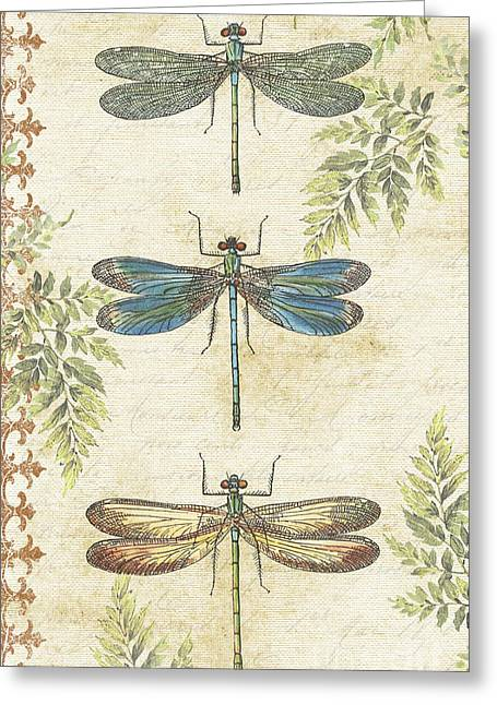 Y Wing Greeting Cards - Dragonflies in the Summertime-JP2324 Greeting Card by Jean Plout