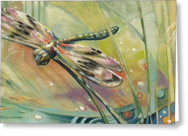 Dragon Fly Greeting Cards - Dragonfly Greeting Card by Barbara Hranilovich