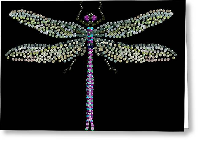 R Allen Swezey Greeting Cards - Dragonfly Bedazzled Greeting Card by R  Allen Swezey