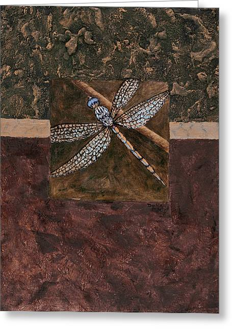 Gesso Greeting Cards - Dragonfly Greeting Card by Darice Machel McGuire