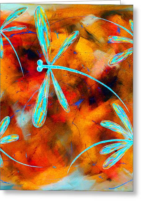 Lyndsey Hatchwell Greeting Cards - Dragonfly Desert Flit Greeting Card by Lyndsey Hatchwell