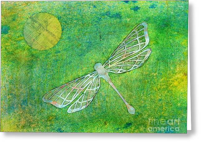 Desiree Paquette Mixed Media Greeting Cards - Dragonfly Greeting Card by Desiree Paquette