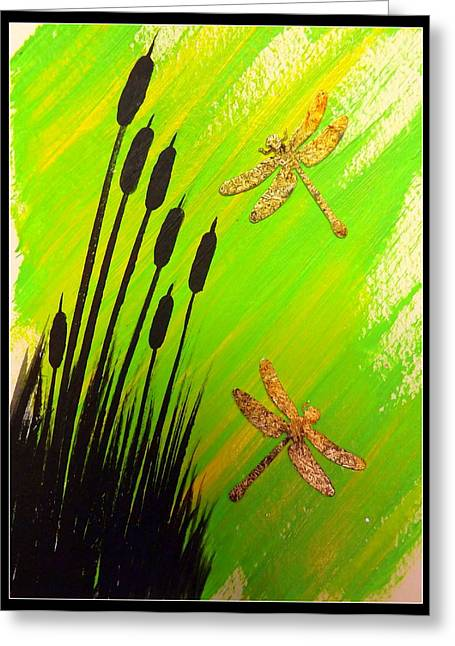 Dragonfly Dreams Greeting Card by Darren Robinson