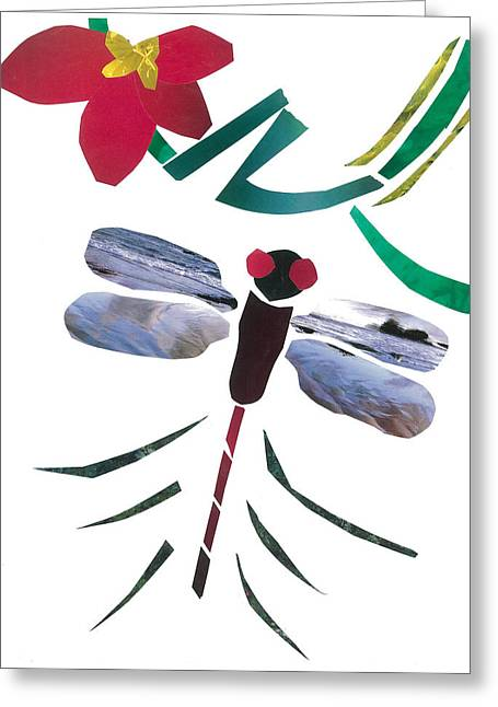Invertebrates Mixed Media Greeting Cards - Dragonfly Greeting Card by Earl ContehMorgan