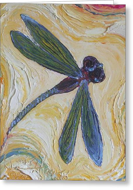 Paris Wyatt Llanso Greeting Cards - Dragonfly II Greeting Card by Paris Wyatt Llanso