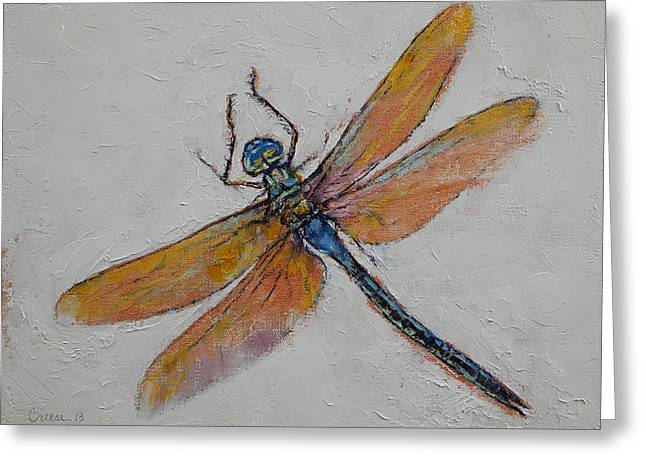 Dragonfly Greeting Card by Michael Creese