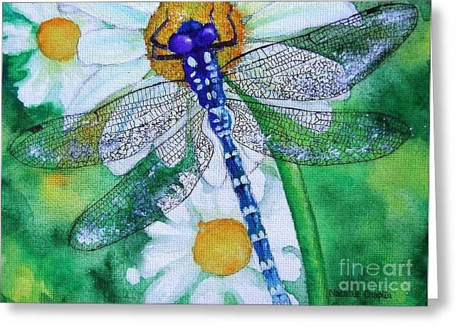 Dragonfly Greeting Card by Natalia Chaplin