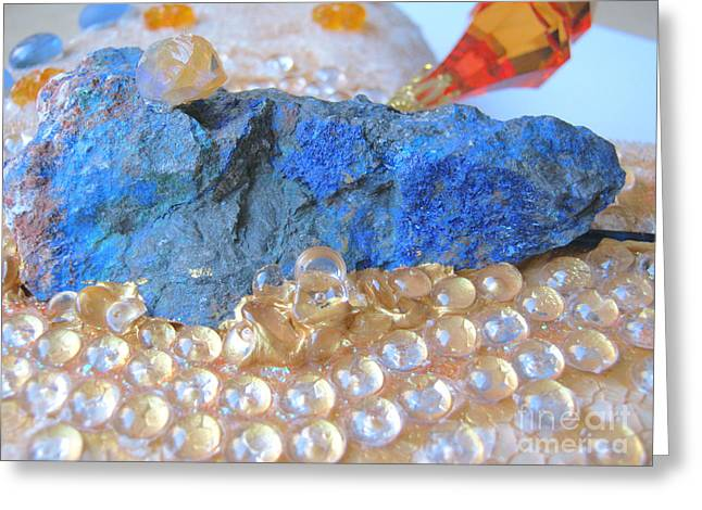 Glass Reliefs Greeting Cards - Dragonheart detail Greeting Card by Heidi Sieber