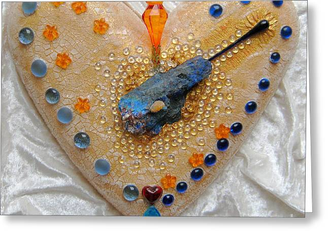Glass Reliefs Greeting Cards - Dragonheart Greeting Card by Heidi Sieber
