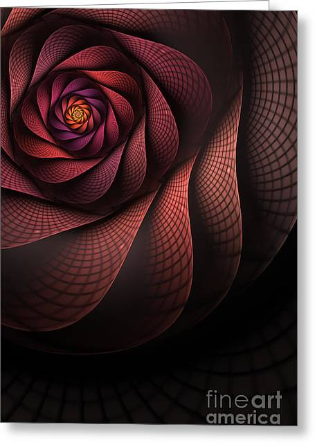 Abstract Digital Digital Greeting Cards - Dragonheart Greeting Card by John Edwards