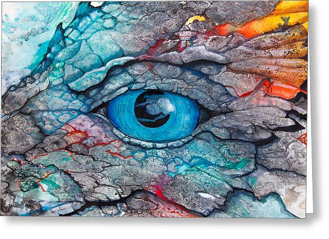 Dragon's Eye Greeting Card by Patricia Allingham Carlson