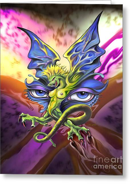 Spano Greeting Cards - Dragons Eyes by Spano Greeting Card by Michael Spano