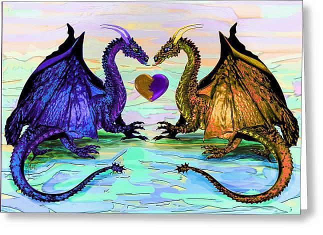 Dragons Love Greeting Card by Michele Avanti