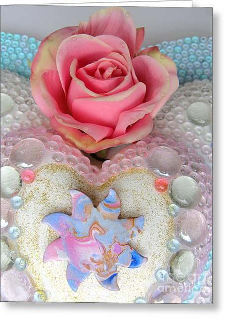Mosaic Reliefs Greeting Cards - Dragonsun Detail Greeting Card by Heidi Sieber
