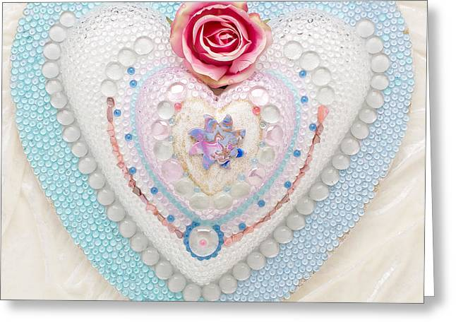 Roses Reliefs Greeting Cards - Dragonsun Greeting Card by Heidi Sieber