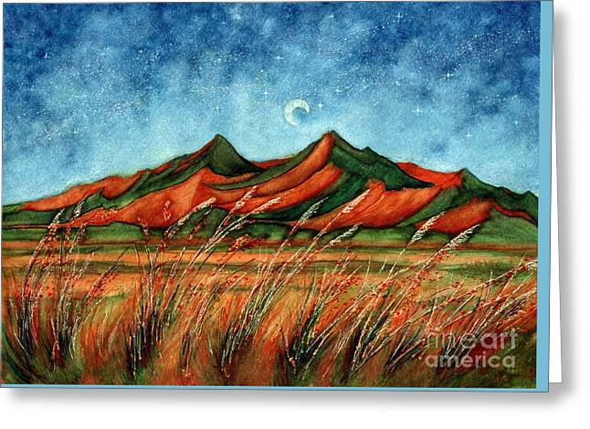 Dragoon Mountains Southwest Az Greeting Card by Janine Riley