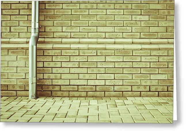Drain Greeting Cards - Drainpipe Greeting Card by Tom Gowanlock