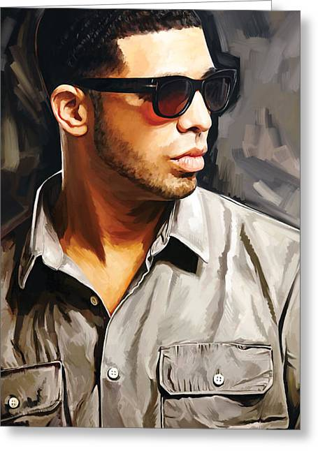 Hip-hop Greeting Cards - Drake Artwork 2 Greeting Card by Sheraz A