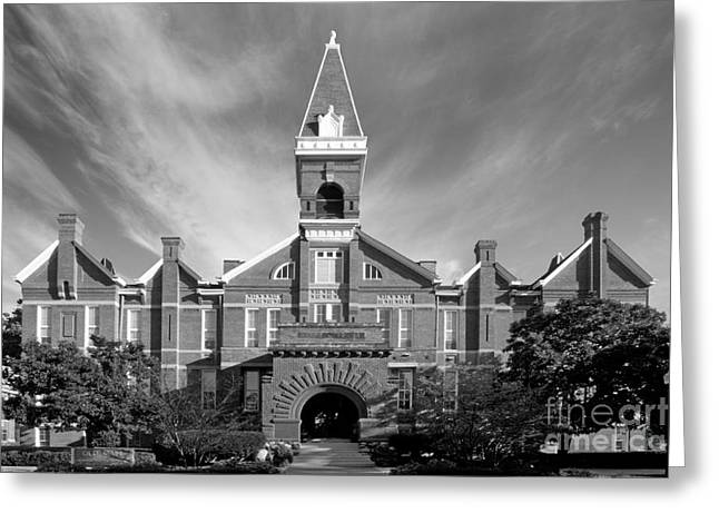 Matera Greeting Cards - Drake University Old Main Greeting Card by University Icons