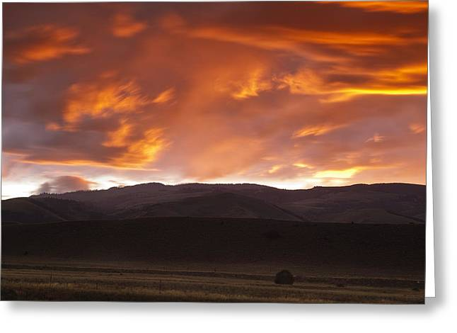 Orange Photos Greeting Cards - Drama after the Storm Greeting Card by Andrew Soundarajan