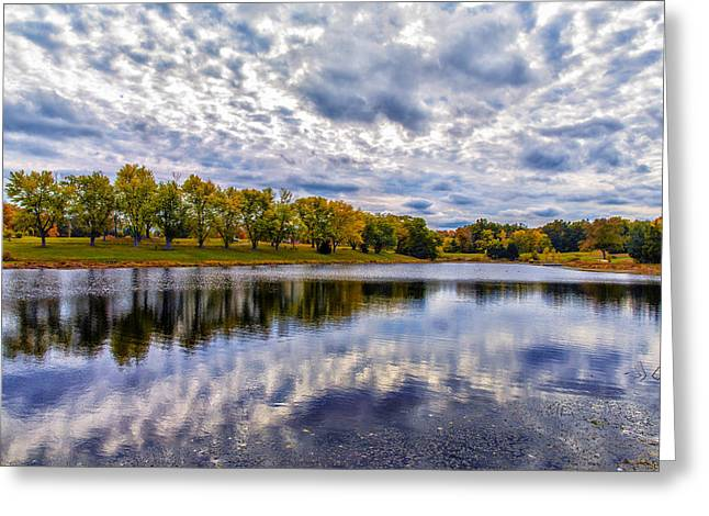 Wentzville Greeting Cards - Drama in Autumn Skies Greeting Card by Bill Tiepelman