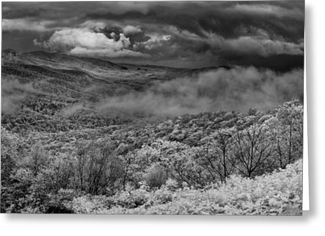 ist Photographs Greeting Cards - Drama in the Blue Ridge Greeting Card by Dan Carmichael