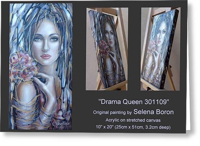 Australian Gold Coast Artist Greeting Cards - Drama Queen 301109 Greeting Card by Selena Boron