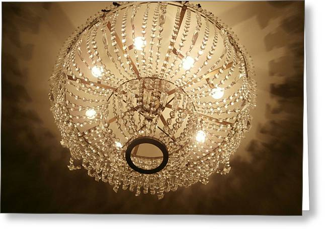 Sepia Chandeliers Greeting Cards - Drama Queen Greeting Card by Karyn Robinson