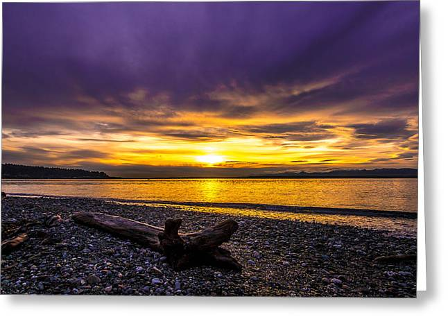 Olympic Mountains Greeting Cards - Drama Greeting Card by Ryan McGinnis