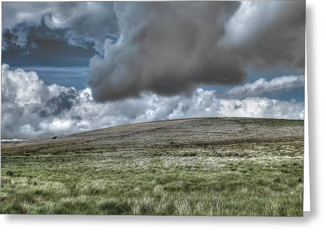 Summer Storm Greeting Cards - Dramatic Dartmoor Landscape Greeting Card by Curtis Radclyffe