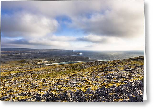 Galway Bay Greeting Cards - Dramatic Landscape of the Aran Islands Greeting Card by Mark Tisdale