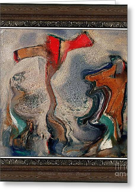 Interior Scene Greeting Cards - Dramatic moment DMt2 Greeting Card by Pemaro