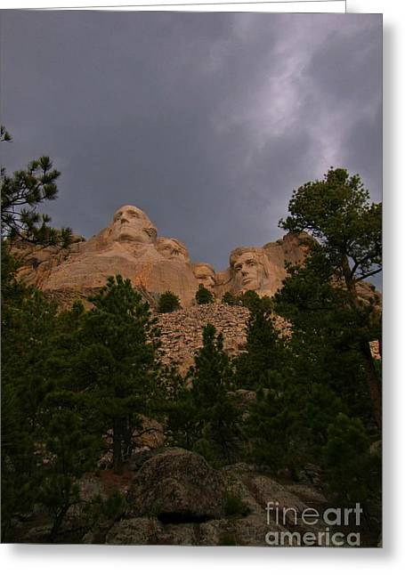 Borglum Greeting Cards - Dramatic Rushmore Greeting Card by John Malone