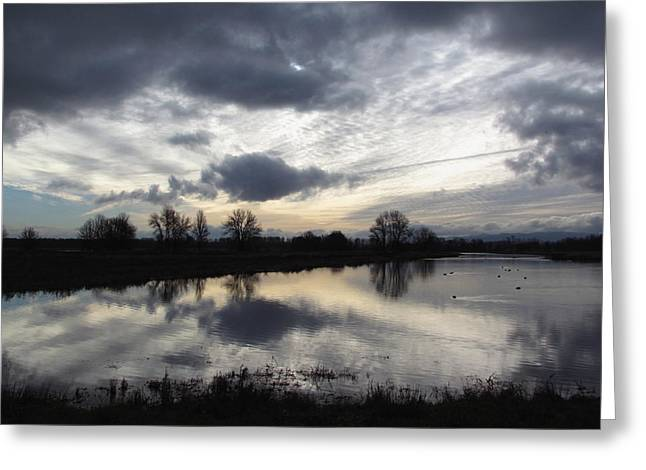 Wildlife Refuge. Greeting Cards - Dramatic Skies Greeting Card by Angie Vogel