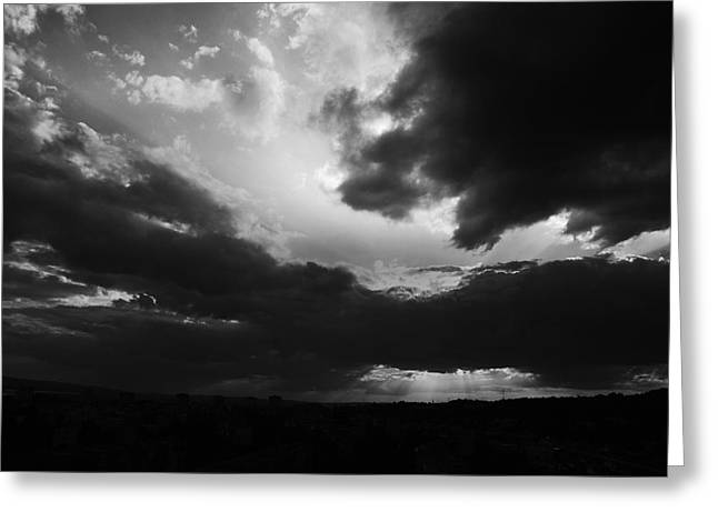 Outdoor Theater Greeting Cards - Dramatic sky Greeting Card by Stefan Dinov