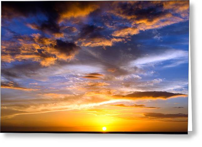 Amazing Sunset Greeting Cards - Dramatic Sunset at Fort Myers Beach Greeting Card by Vicki Jauron