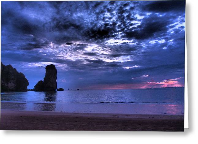 Justin Woodhouse Greeting Cards - Dramatic Sunset Greeting Card by Justin Woodhouse