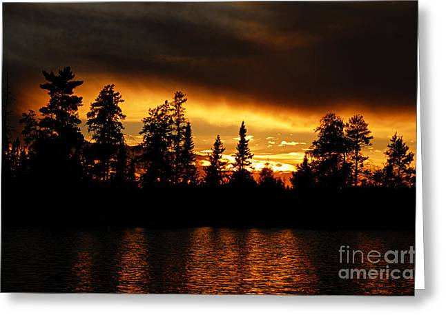 Larry Ricker Greeting Cards - Dramatic Sunset Greeting Card by Larry Ricker