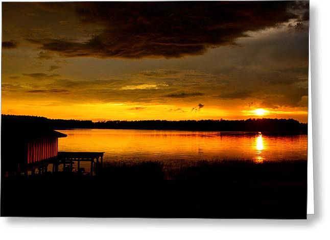 Florida House Greeting Cards - Dramatic Sunset Greeting Card by Parker Cunningham