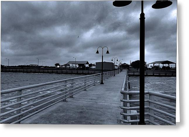 Walk The Line Greeting Cards - Dramatic Walkway On Gulf Of Mexico Greeting Card by Dan Sproul