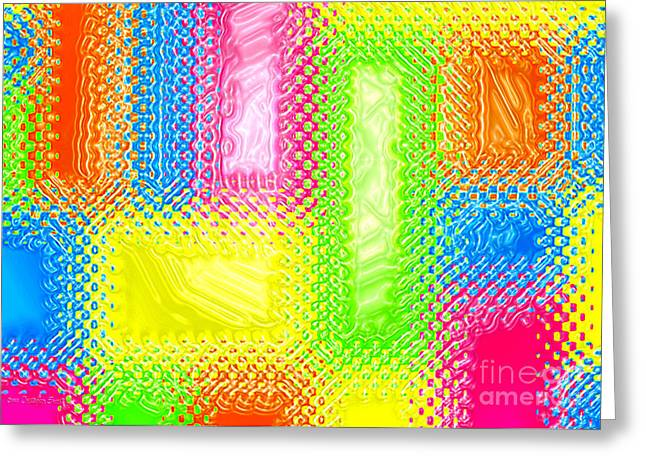 Abstract Digital Greeting Cards - Drastic Plastic Greeting Card by Cristophers Dream Artistry