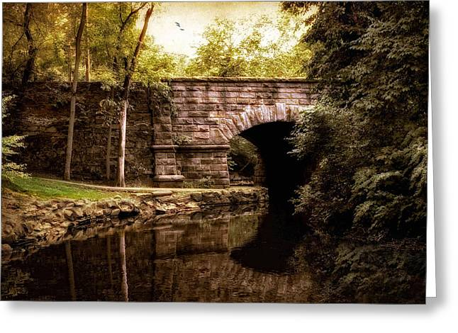 Stone Bridge Greeting Cards - Drawing Near Greeting Card by Jessica Jenney