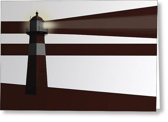 Dutch Lighthouse Greeting Cards - Drawing of traditional dutch lighthouse Greeting Card by Wout Kok