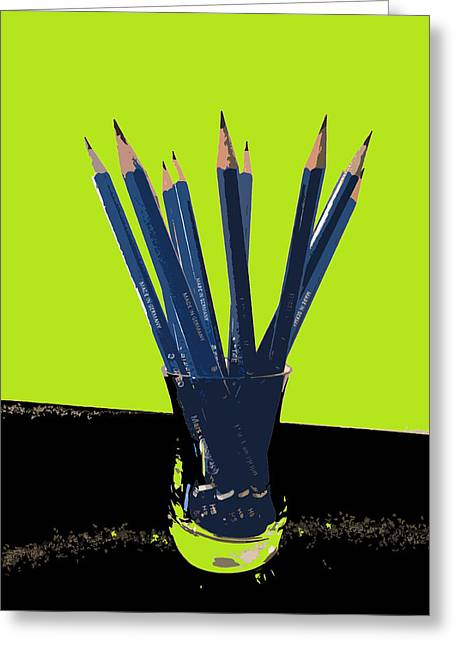 Printmaking Photographs Greeting Cards - Drawing Pencils Greeting Card by Julio R Lopez Jr