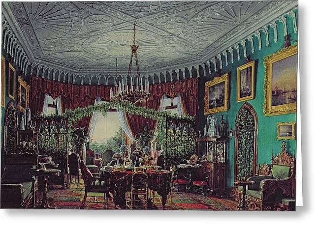 Drawing Room Of Empress Alexandra Feodorovna Greeting Card by Eduard Hau