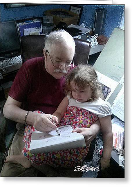Seth Weaver Greeting Cards - Drawing With Gracie Greeting Card by Seth Weaver