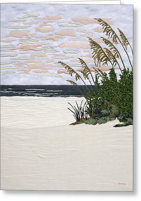 Wave Tapestries - Textiles Greeting Cards - Drawn to the Sea II Greeting Card by Anita Jacques