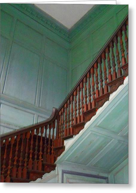 Wooden Stairs Greeting Cards - Drayton Hall 17 Greeting Card by Ron Kandt