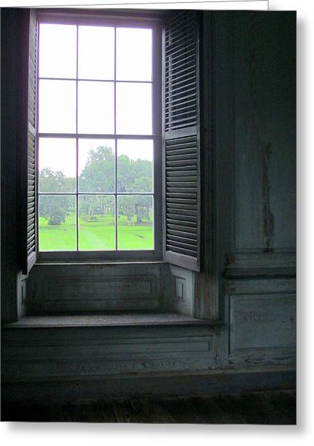 Drayton Interior Window 3 Greeting Card by Randall Weidner