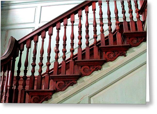 Drayton Staircase 2 Greeting Card by Randall Weidner